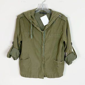 Brandy Melville | army green utility jacket OS